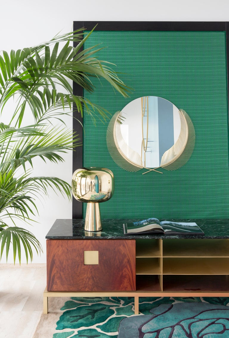 Ghidini 1961 Sunset Medium Mirror in Brass by Nika Zupanc In New Condition For Sale In Villa Carcina, IT