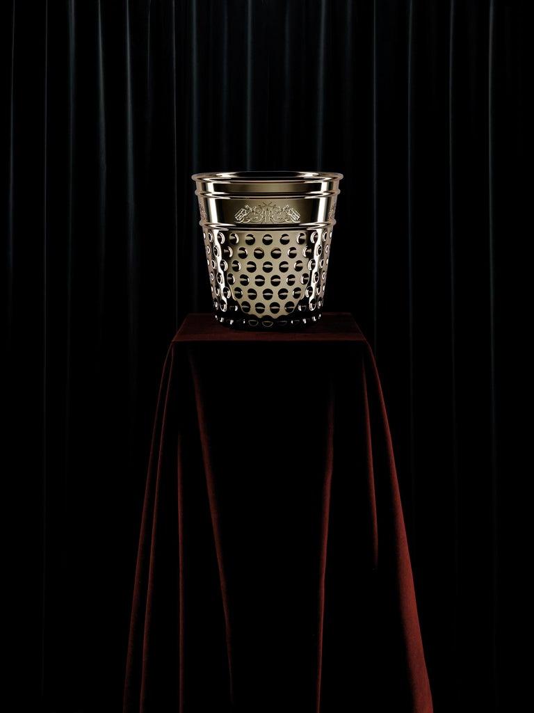 Italian Ghidini 1961 Thimble Ice Bucket in Copper by Studio Job For Sale