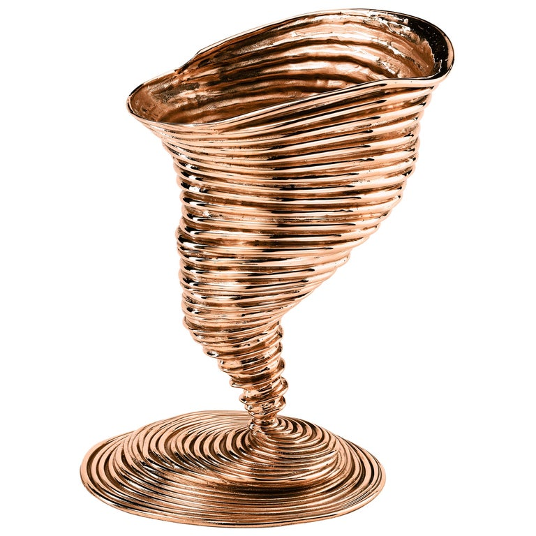 Ghidini 1961 Tornado Sculptural Vase in Bronze by Campana Brothers For Sale