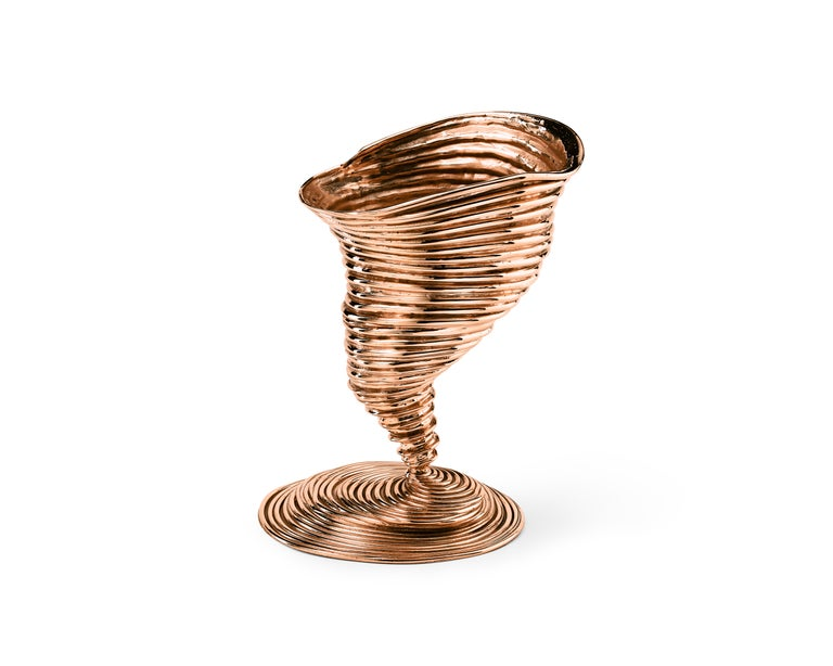 Modern Ghidini 1961 Tornado Vase in Polished Brass by Campana Brothers For Sale