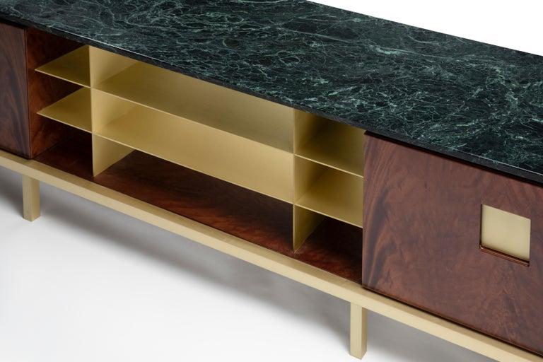 Ghidini 1961 Zuan Living Cabinet in Wood by Paolo Rizzatto For Sale 2