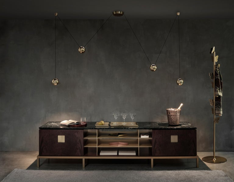 Modern Ghidini 1961 Zuan Living Cabinet in Wood by Paolo Rizzatto For Sale