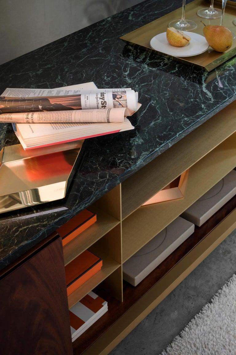 Ghidini 1961 Zuan Living Cabinet in Wood by Paolo Rizzatto For Sale 1