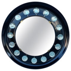 Ghiro Studio 'Italy' Circular Wall Mirror with Art Glass Embellishments