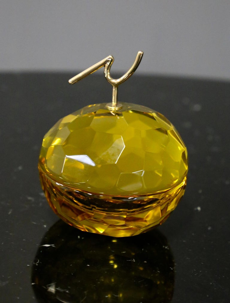 Ghirò Studio Jewel Box in Brass and Glass Yellow, 2019 In Good Condition For Sale In Milano, IT