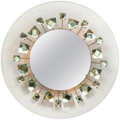 Ghiro Studios Backlit Chisel Cut Glass Mirror, Italy, 2018