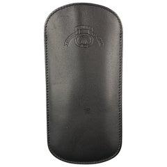 GHURKA Black Leather Eyewear Case