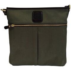 Ghurka Olive Green 'Anatomy' Crossbody Bag