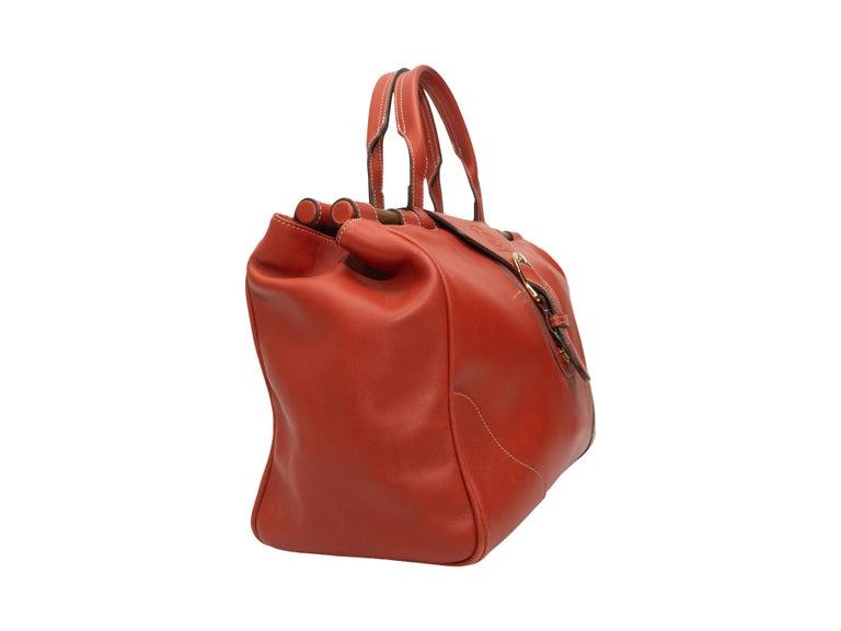 Red Ghurka Orange Large Leather Handbag For Sale