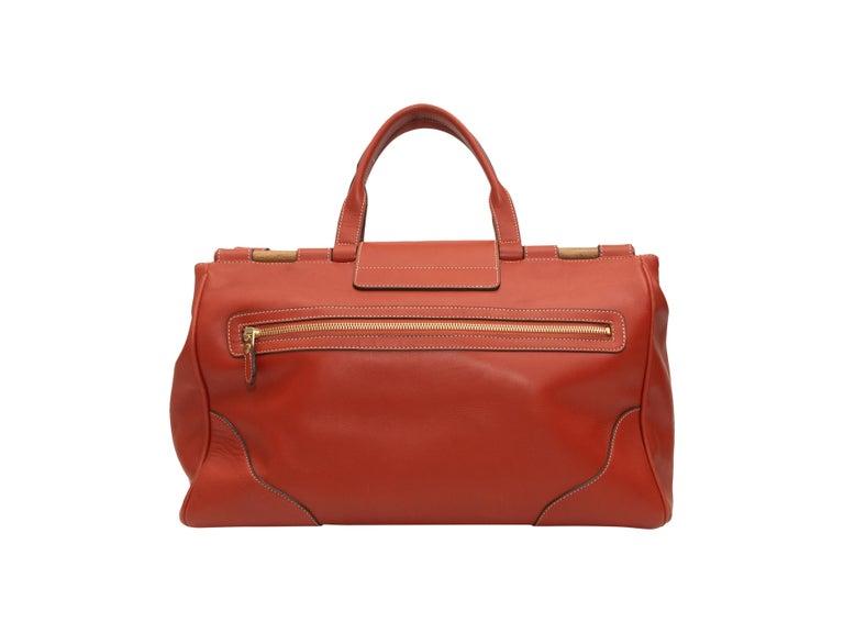 Women's Ghurka Orange Large Leather Handbag For Sale
