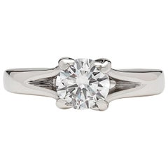 GIA 0.76 Carat D/VS2 Diamond Engagement Ring