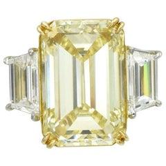 G.I.A. 10.00 Carat Fancy Yellow Diamond Ring