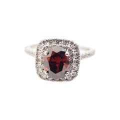 GIA 1.03 Carat Natural Fancy Dark Brown Oval Diamond Ring 14 Karat
