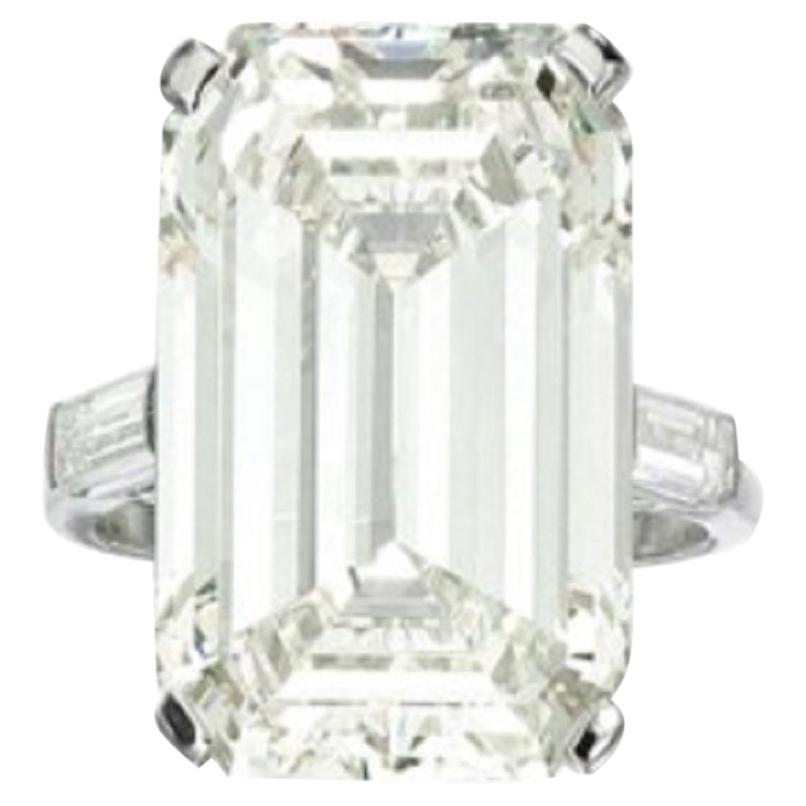 GIA 10.68 Carat VVS1 Clarity Emerald Cut Diamond Ring