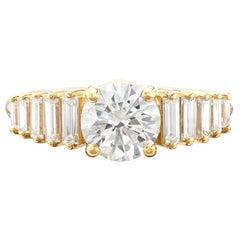 GIA 1.08-ct. H/SI1 Diamond Engagement Ring