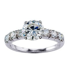 GIA 1.19 Carat Diamond Platinum Engagement Ring