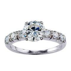Platin-Verlobungsring mit GIA 1,19 Karat Diamanten