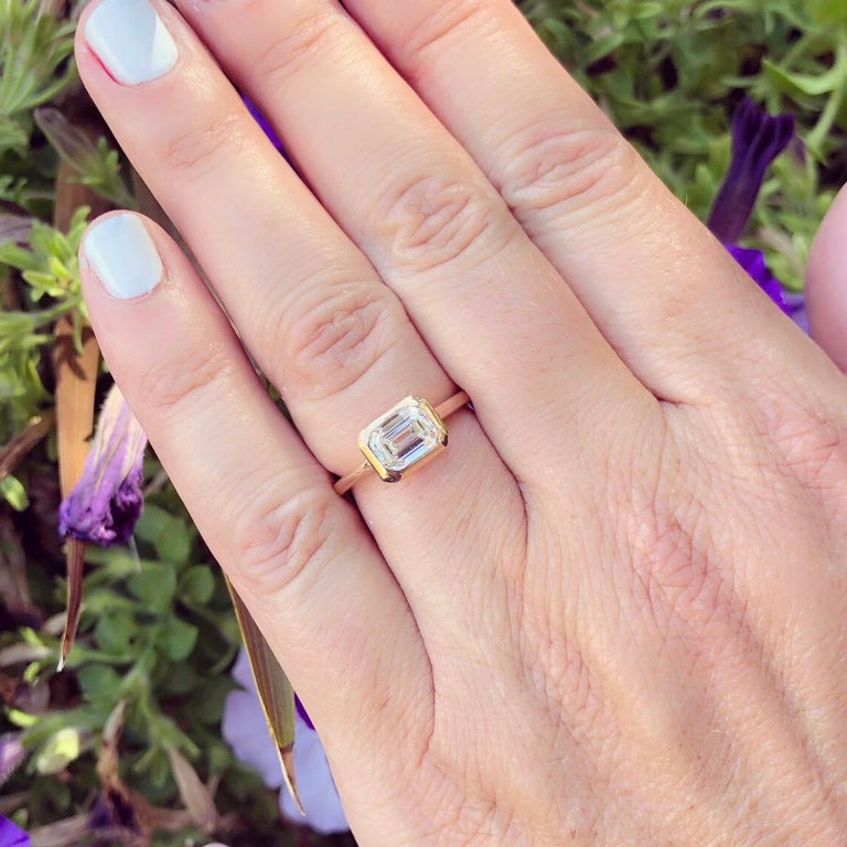 GIA 1.20 Carat I/VS1 Emerald Cut Engagement Ring In New Condition For Sale In San Francisco, CA