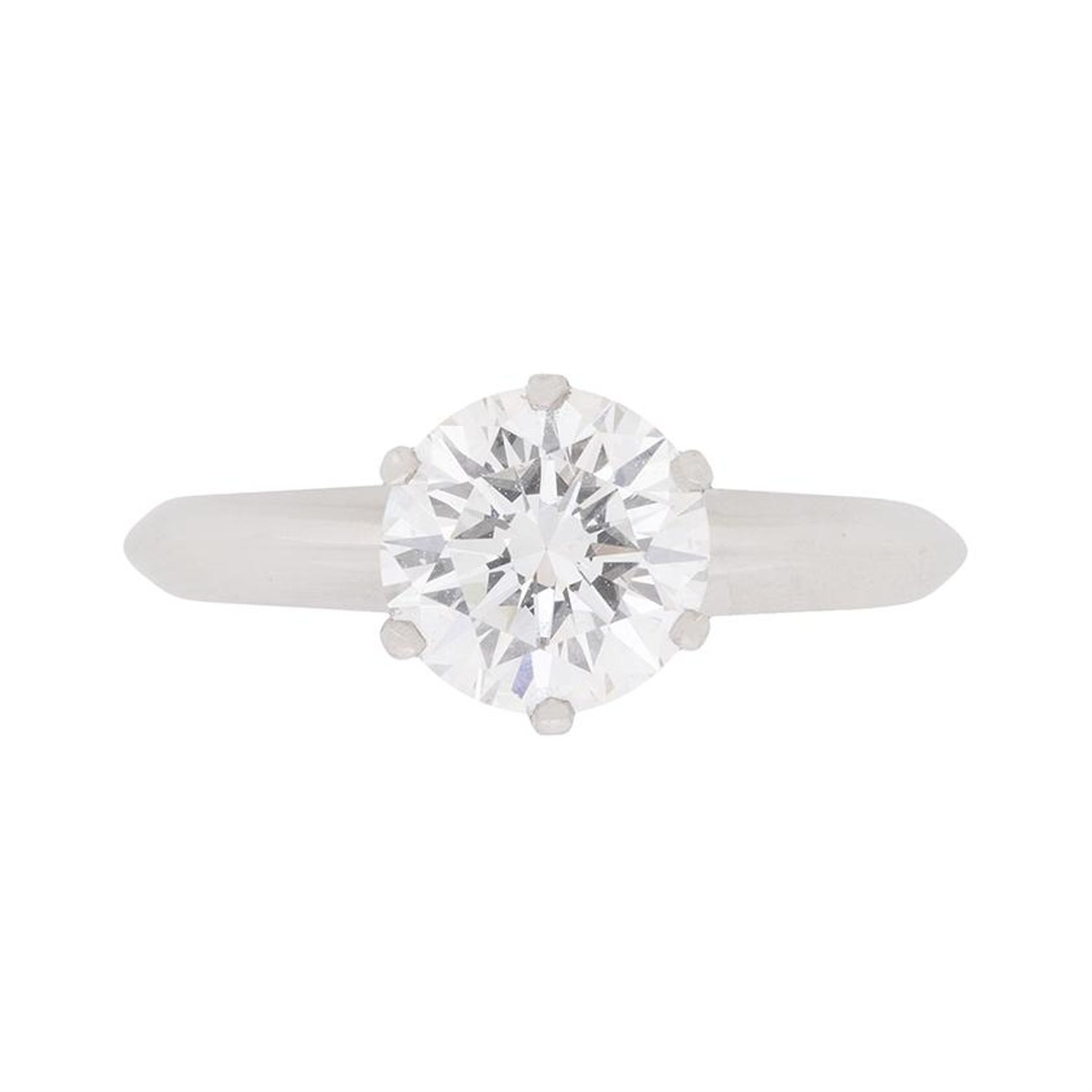 984be9d8d GIA 1.24 Carat Tiffany and Co. Round Brilliant Cut Diamond Solitaire Ring  For Sale at 1stdibs