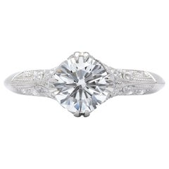 GIA 1.26 Carat F/VS2 Diamond Engagement Ring