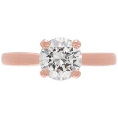 GIA 1.30 Carat Rose Gold Diamond Ring