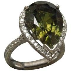 GIA 14.02 Carat Mystic Sapphire Halo Ring