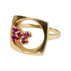 GIA 14k Gold and Ruby Ring