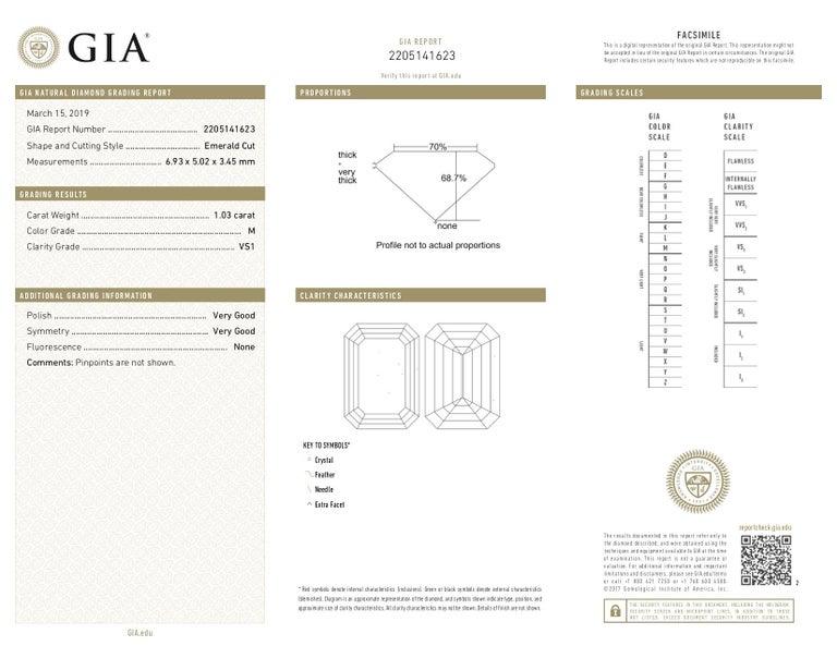 GIA 1.63 Carat Old Cushion Cut Diamond Platinum Ring For Sale 1