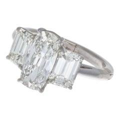 GIA 1.63 Carat Old Cushion Cut Diamond Platinum Ring