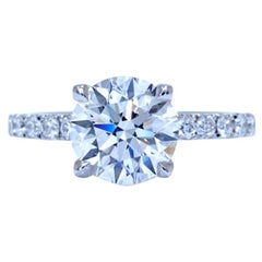 GIA 1.82 Carat Certified Triple Excellent J VS2 Diamond Round Brilliant Cut Ring