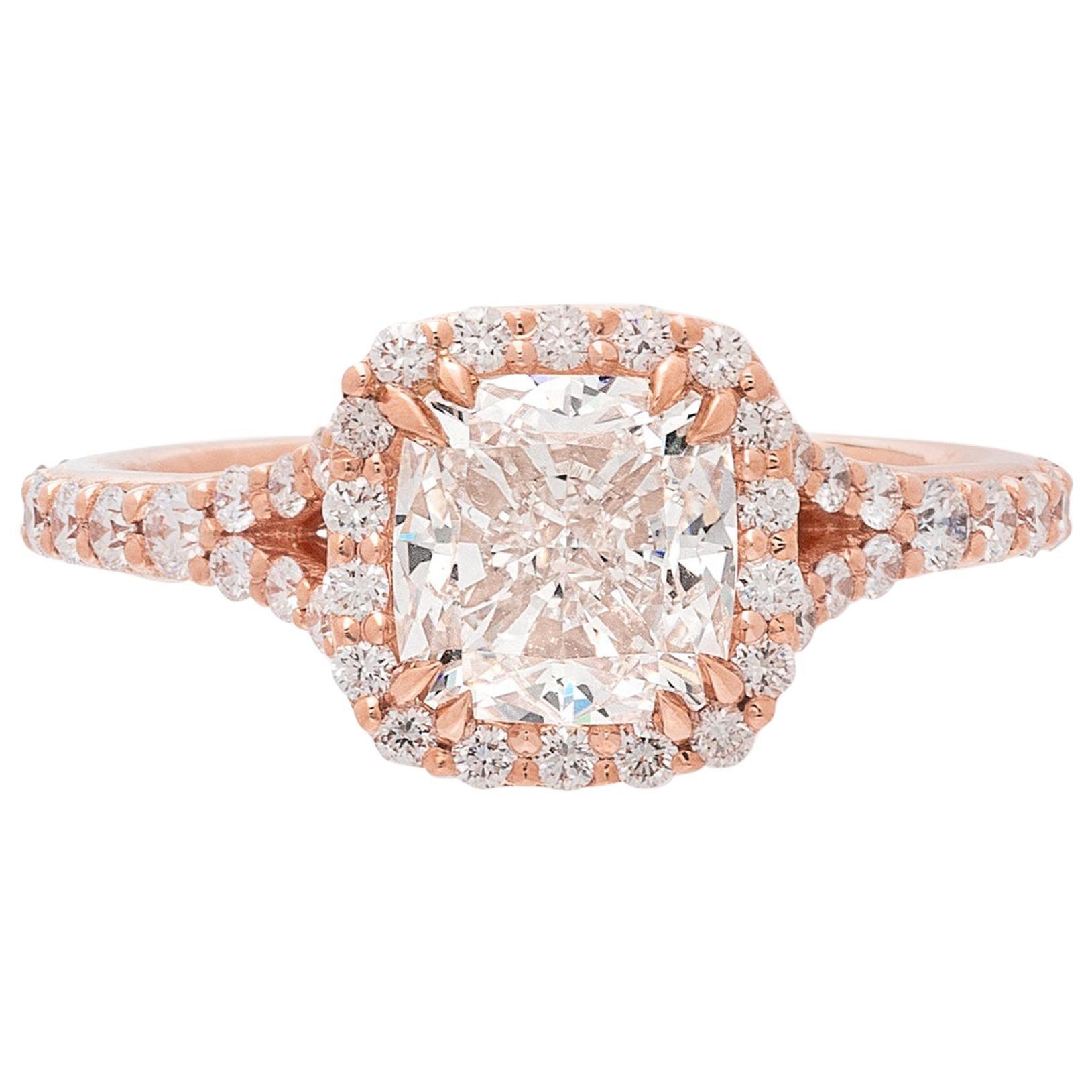 GIA 2.00 Carat I/VVS1 Cushion Diamond Engagement Ring