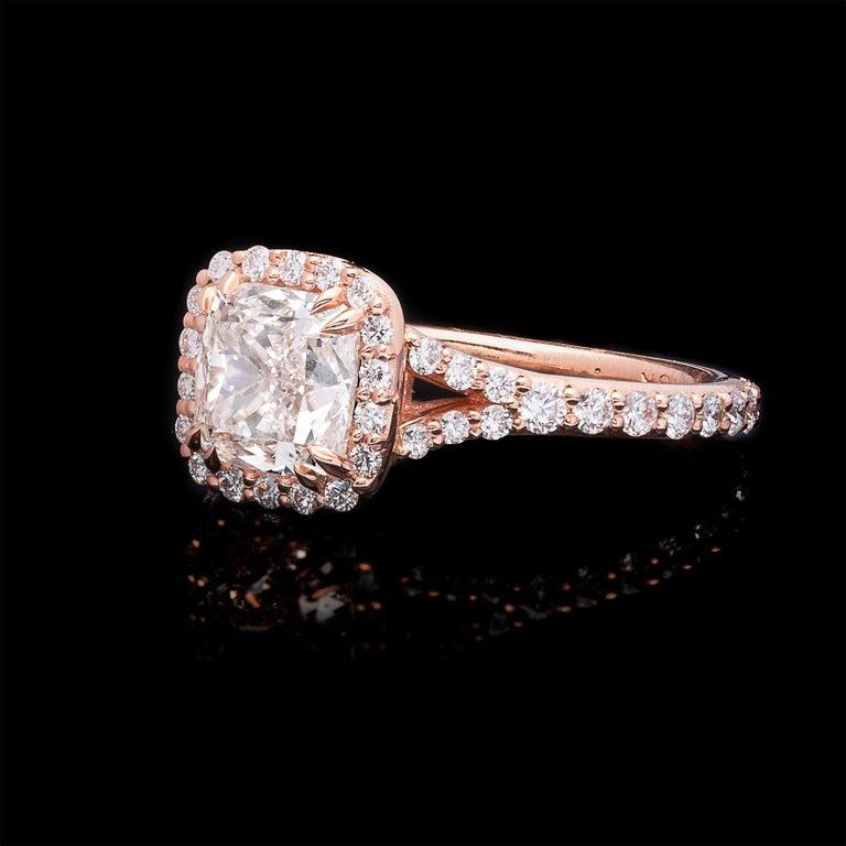 Cushion Cut GIA 2.00 Carat I/VVS1 Cushion Diamond Engagement Ring For Sale