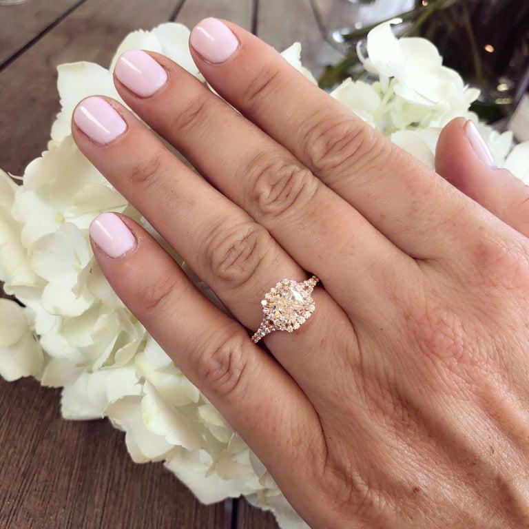 GIA 2.00 Carat I/VVS1 Cushion Diamond Engagement Ring For Sale 1