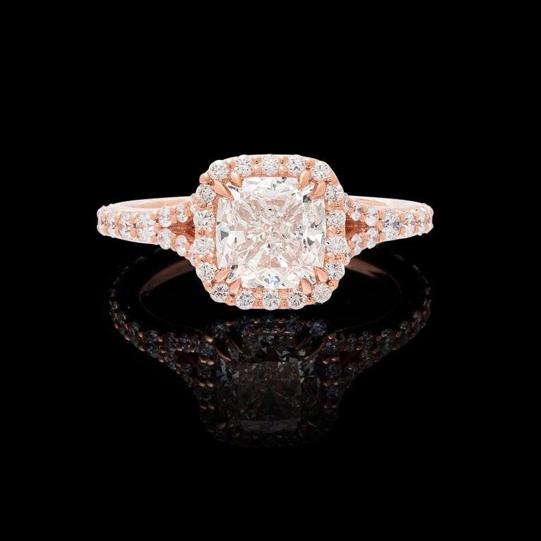 GIA 2.00 Carat I/VVS1 Cushion Diamond Engagement Ring For Sale 2