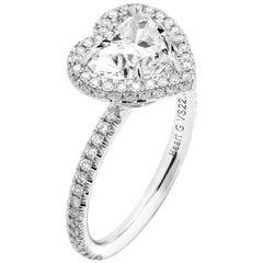 GIA 2.00 Carat G VS2 Heart Shaped Diamond Engagement Ring