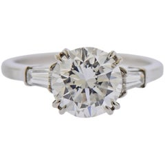 GIA 2.23 Carat F VS1 Diamond Harry Winston Platinum Engagement Ring
