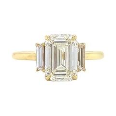 GIA 2.36 Carat Emerald Cut Engagement Ring
