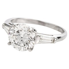 GIA 2.40 Carat Diamond F Color VS1 Clarity  Platinum Engagement Ring