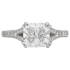 GIA 2.50 Carat F/VS1 Cushion Diamond Engagement Ring
