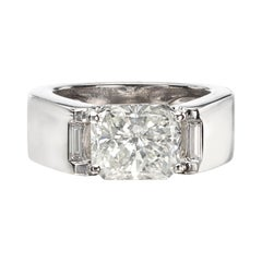 GIA 3.01-Ct H/SI1 Radiant Diamond in Cartier Ring