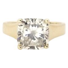 GIA 3.07 Carat Natural Fancy Color Cushion Cut Diamond Ring