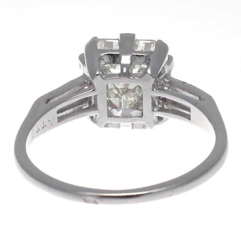 GIA 3.44 Carat Diamond Platinum Ring In New Condition For Sale In Beverly Hills, CA