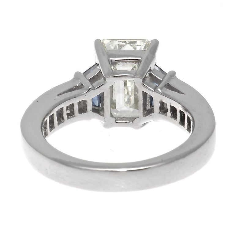 GIA 3.44 Carat Diamond Platinum Ring In Excellent Condition For Sale In Beverly Hills, CA
