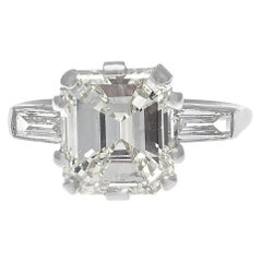 Jack Weir & Sons GIA 3.44 Carat Diamond Platinum Ring
