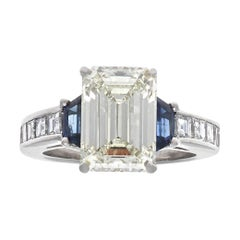 GIA 3.44 Carat Diamond Platinum Ring