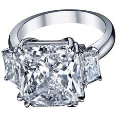 GIA 3.50 Carat Radiant Cut Diamond Ring