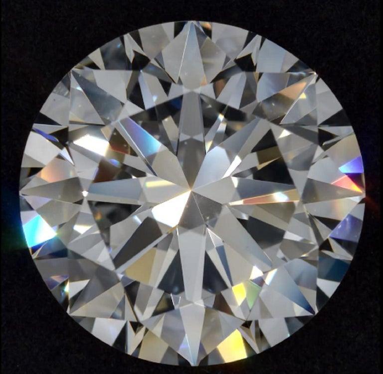 Modern GIA 4 Carat Round Brilliant Cut Diamond Ring VVS1 F Color For Sale