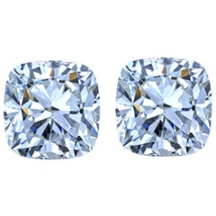 GIA 4.08 Carat Cushion Diamond Studs
