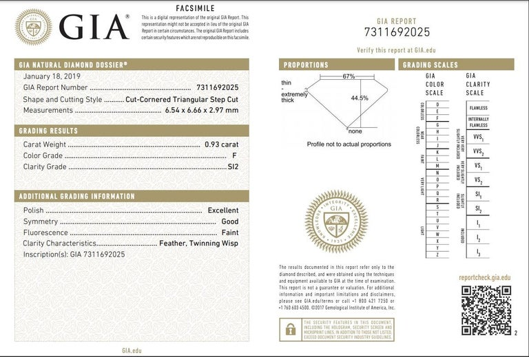 GIA 4.54 Carat Cushion Cut Diamond Three-Stone Platinum Engagement Ring For Sale 1