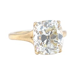 GIA 4.96ct Old Mine Cut Engagement Ring Solitaire Jack Weir and Sons